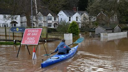 Storm Dennis leaves parts of UK in 'uncharted territory'