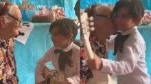 Niño le canta la canción 'Recuérdame' a su bisabuelita y ha roto el internet con su ternura