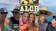 Carla e Xanddy fogem para o Havaí e celebram 19 anos de casados