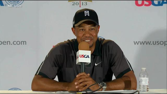 Tiger Woods surprised at U.S. Open press conference