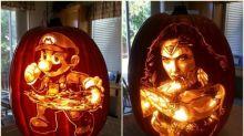 外國神人高質「南瓜雕刻」 Wonder Woman真嘅一樣