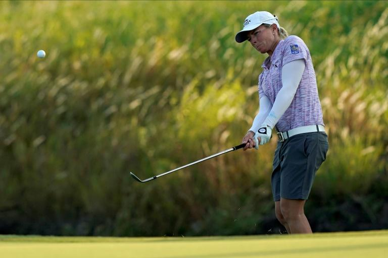 Canada's Sharp shares LPGA lead in Texas with Altomare, Knight