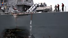 Ten sailors missing after USS John S. McCain collides with oil tanker near Singapore