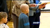 Boy, 6, shares good news about cancer battle