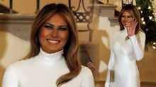 Melania Trump stuns at White House Christmas ball