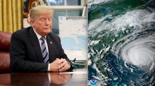 Donald Trump mocked for warning people that Hurricane Florence is going to be 'tremendously wet'