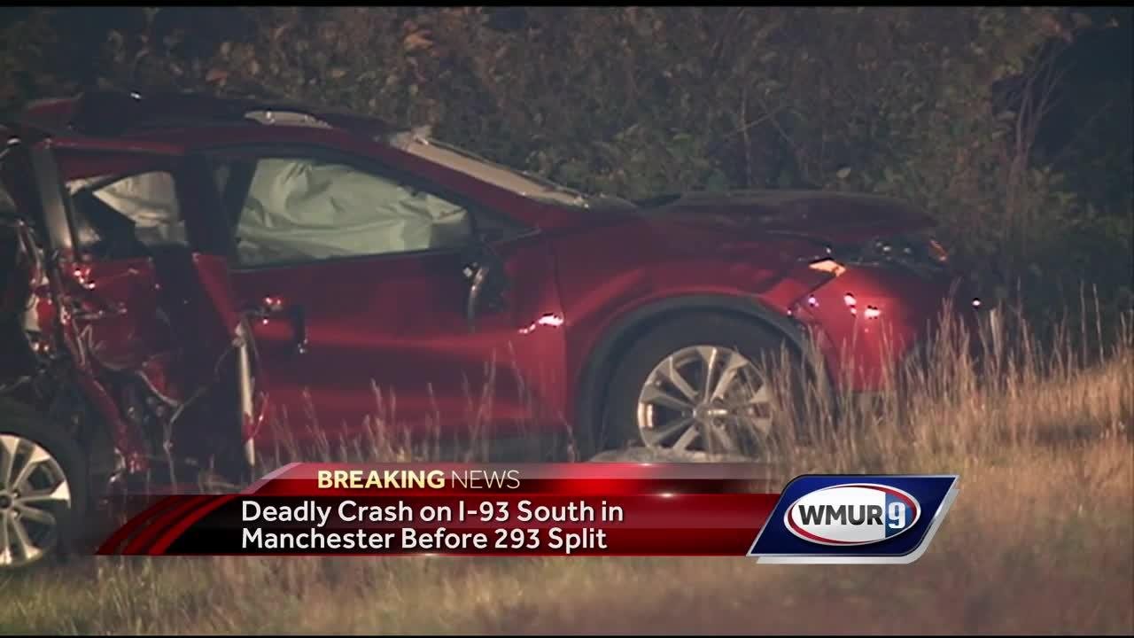 Police investigate deadly crash on I-93 South in Manchester