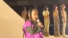 Kanye West's six-year-old daughter North makes rap debut at Yeezy show in Paris