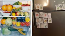 Genius way to remember what veggies are in the fridge