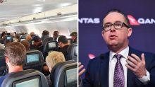Qantas CEO defends airline's social distancing 'gamble' on flights