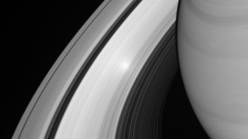 Check out this bright spot on one of Saturn's rings