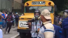 Activists Report Police Throwing Tear Gas in Front of Caracas School