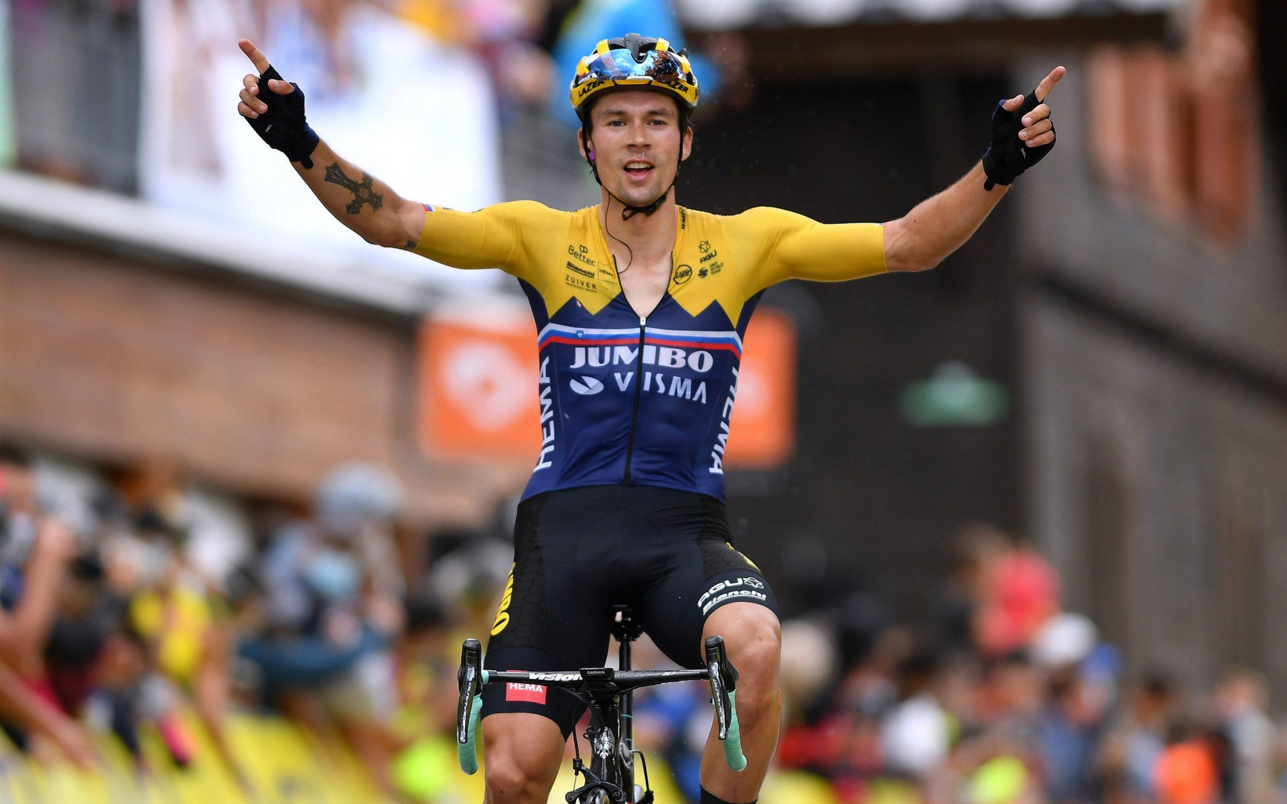 Primoz Roglic wins stage two of Criterium du Dauphine to hit form ahead of Tour de France