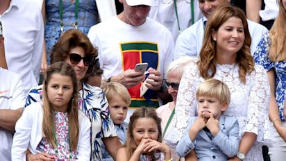 Roger Federer's family watches on in pride as he wins record-breaking eighth Wimbledon title