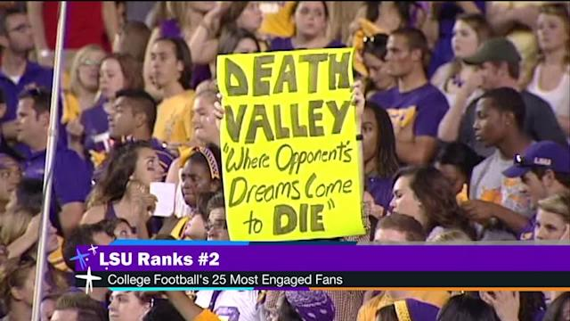 LSU fans ranked #2 in the nation