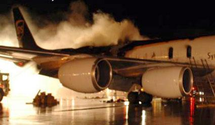 NTSB looks to laptop batteries as possible cause of plane fire