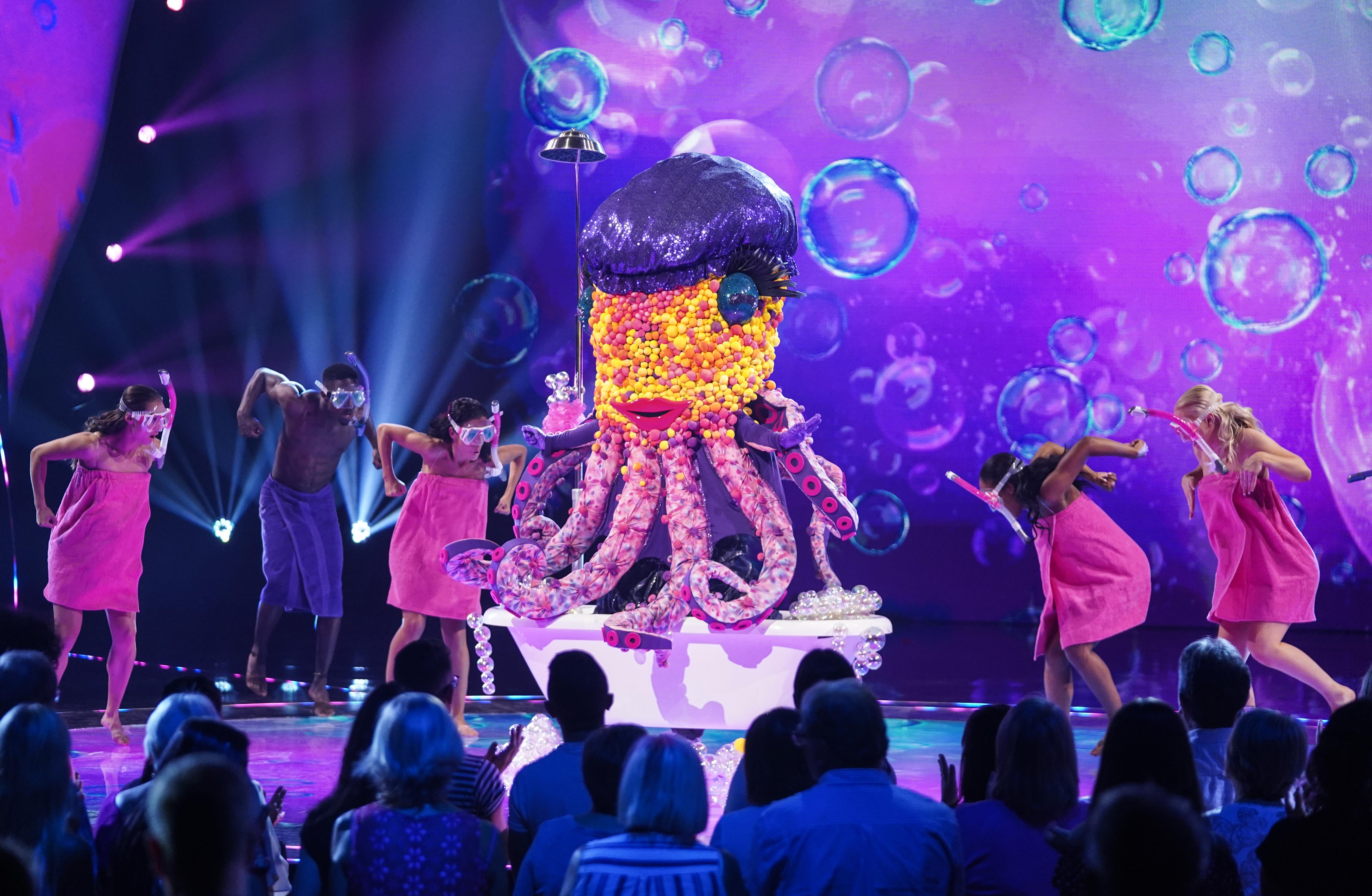 Is there a Minogue sister inside 'The Masked Singer's Octopus?