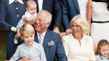 Prince Louis Adorably Ruined Prince Charles' Birthday Portrait and the 70-Year-Old Royal's Reaction Was Peak Grandpa