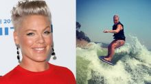 Fans praise Pink for body positive post about her 'thunder thighs'