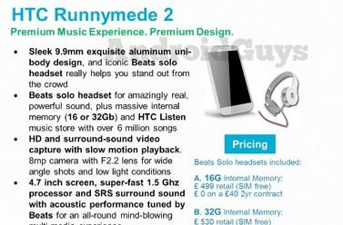 """HTC Runnymede 2 looks to lay down the law with 4.7"""" display and Beats audio"""