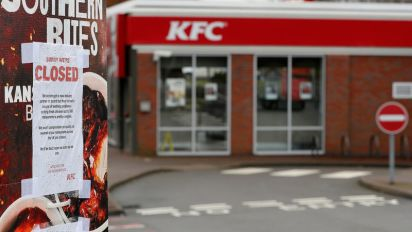 KFC closes UK stores due to chicken shortage