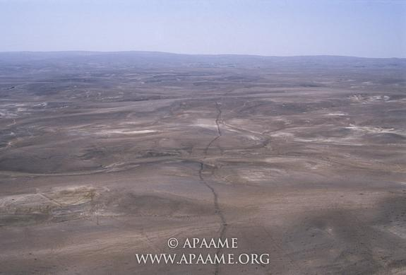 """Using aerial photography, archaeologists in Jordan have mapped a ruined wall known today as the """"Khatt Shebib."""""""