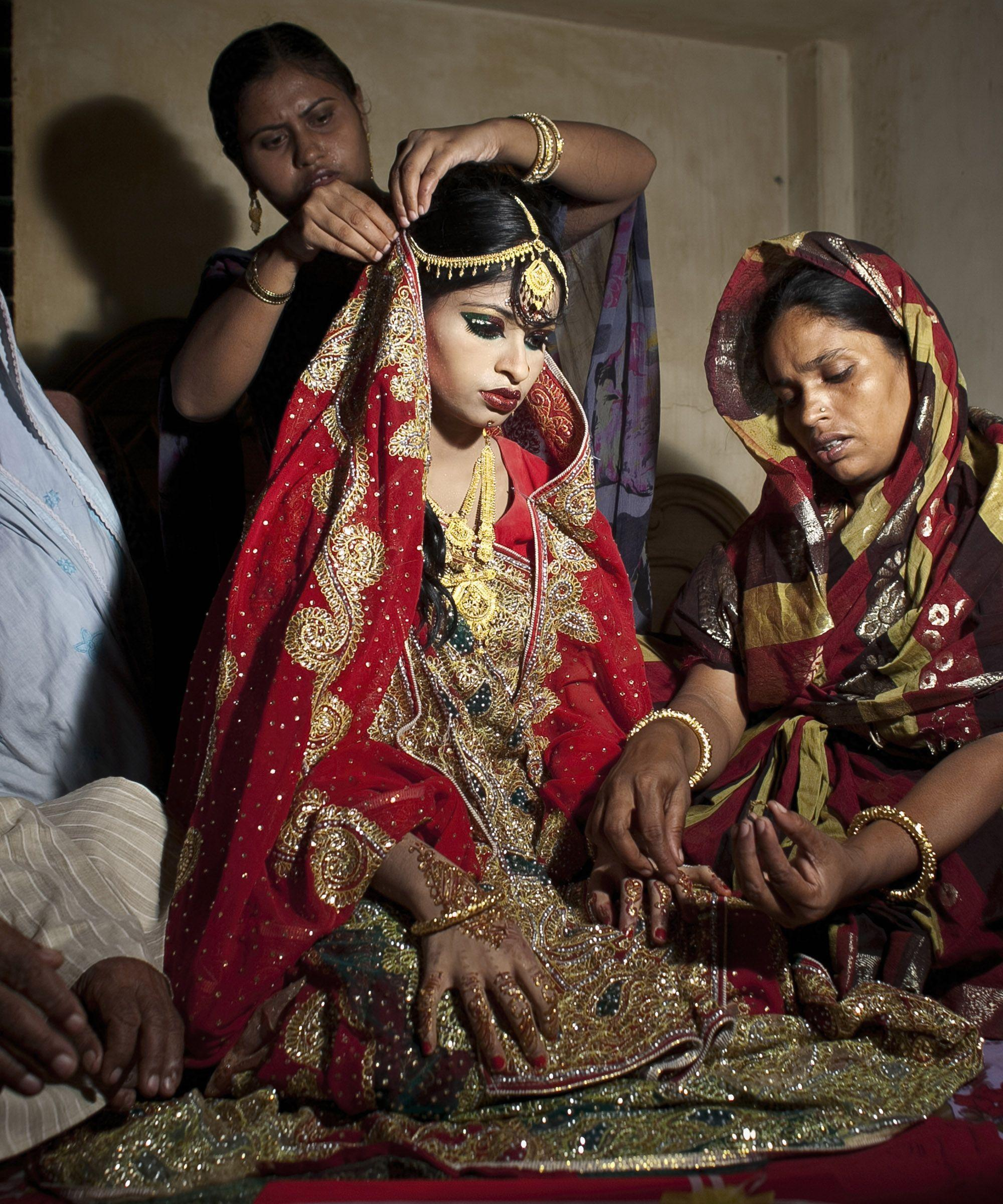 haunting photos of a year old forced to marry a man twice her age