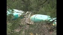 Train derails, sends Boeing aircraft parts into Montana river