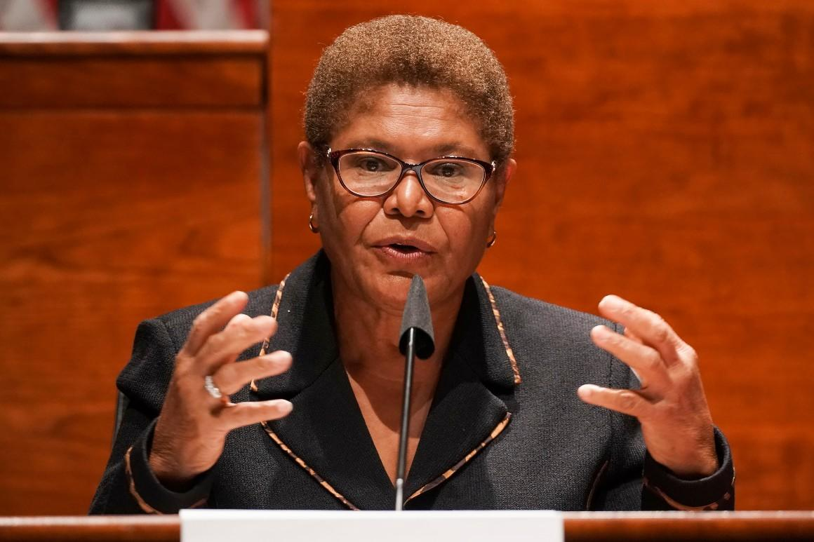 Rep. Karen Bass: Flags must remain 'at half-mast' until John Lewis is laid to rest