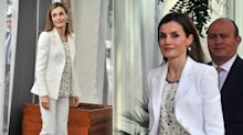Letizia se deja el glamour en Estados Unidos: ¿es este su look más soso?