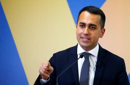 FILE PHOTO: 5 Star leader and Deputy PM Di Maio presents EU election program