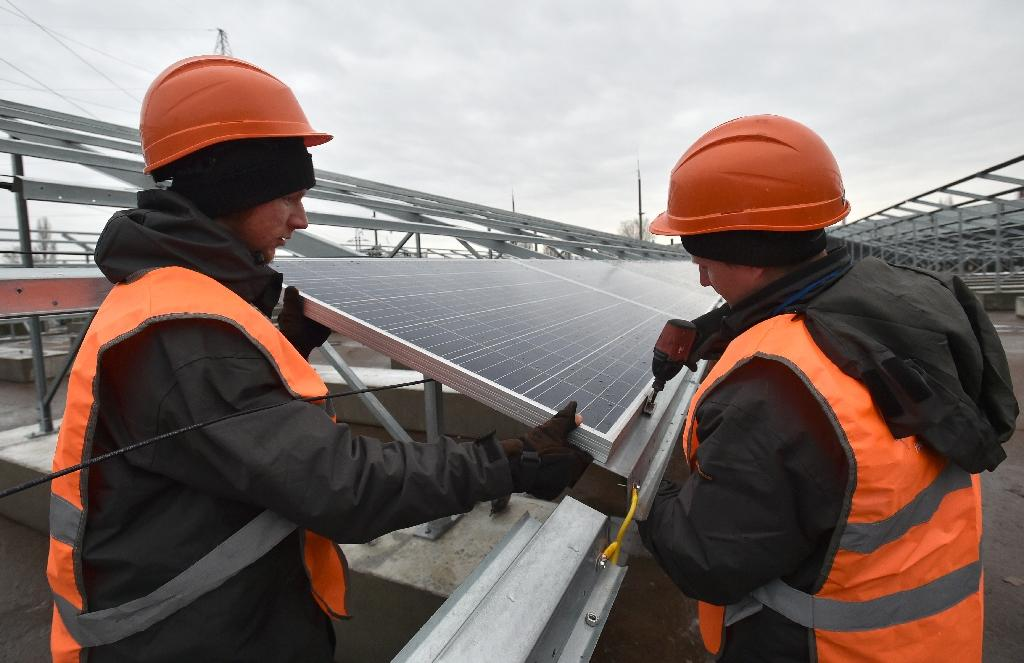 Solar power is a way to make use of the area around Chernobyl that is still heavily polluted after the 1986 catastrophe (AFP Photo/Genya SAVILOV)