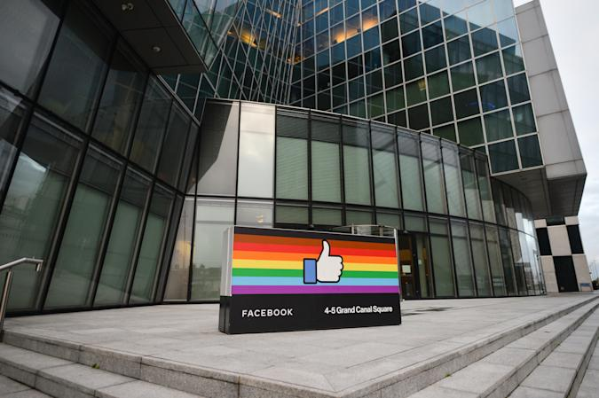 Facebook EMEA headquarters on Grand Canal Square in Dublin Docklands. On Friday, 29 January, 2021, in Dublin, Ireland. (Photo by Artur Widak/NurPhoto via Getty Images)