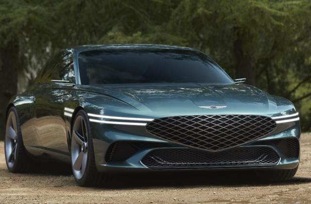 The Genesis X is a curvy, high-tech luxury EV concept