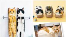 日本Felissmo貓部新產品     「拉長毛巾」配「塞爆紙箱筆袋」 超可愛
