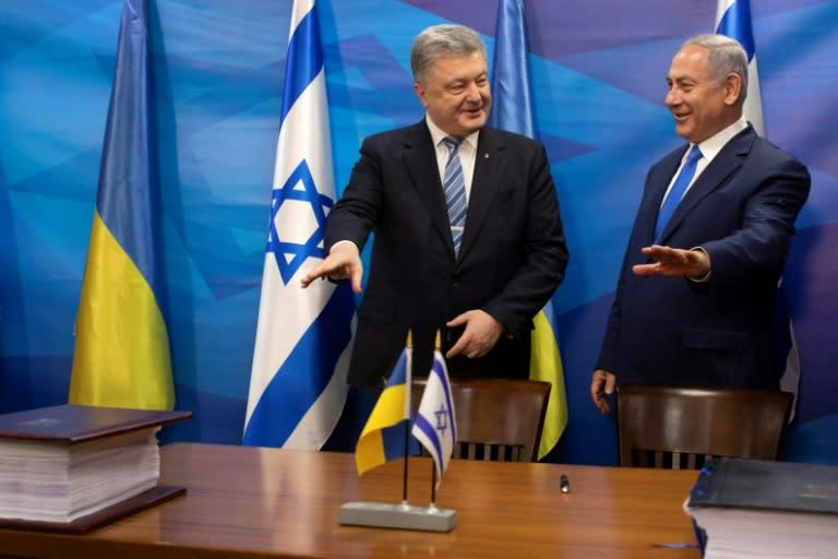 Netanyahu hosted Zelensky's predecessor Petro Poroshenko in Jerusalem in January