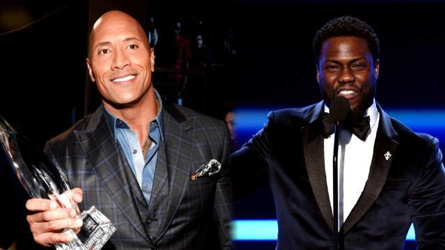 Kevin Hart Thanks All His Co-Stars at People's Choice Awards, Except The Rock 'Who Hasn't Helped Me At All'