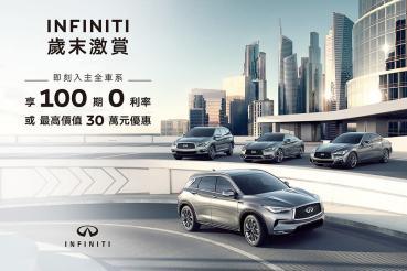 Infiniti歲末推購車享高額100期0利率或最高30萬元優惠!Q50、QX50馭樂升級版登場