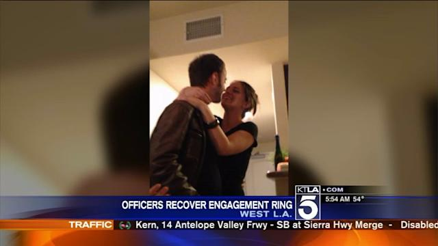 LAPD Officers Save Christmastime Engagement Proposal