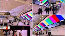 大阪「梅田站」七色廣告牌 巨大映像Twitter熱傳