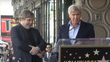 Harrison Ford honors Carrie Fisher at Mark Hamill's Hollywood Walk of Fame ceremony