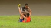 Brazilian soccer player attacks ball boy