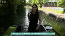 Nicola Thorp crashes her narrowboat home on 'This Morning'