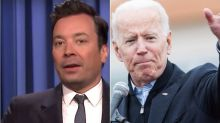 Fallon Bashes Joe Biden Over Touching Allegations With Spoof 2020 Slogan