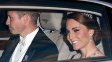 Kate Middleton Pairs Diana's Glittery Tiara With Pink Marchesa Dress