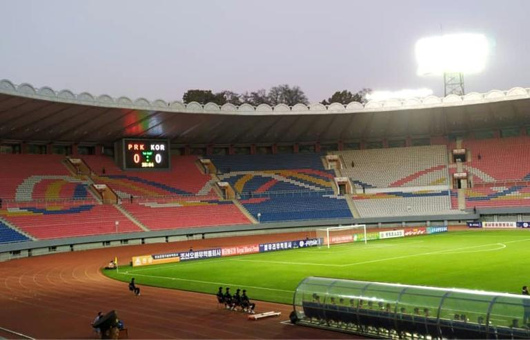 North Korea Plays South Korea In Empty Stadium For World Cup Qualifier
