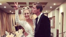 'Big Bang Theory' star Kaley Cuoco marries Karl Cook, see her reception jumpsuit