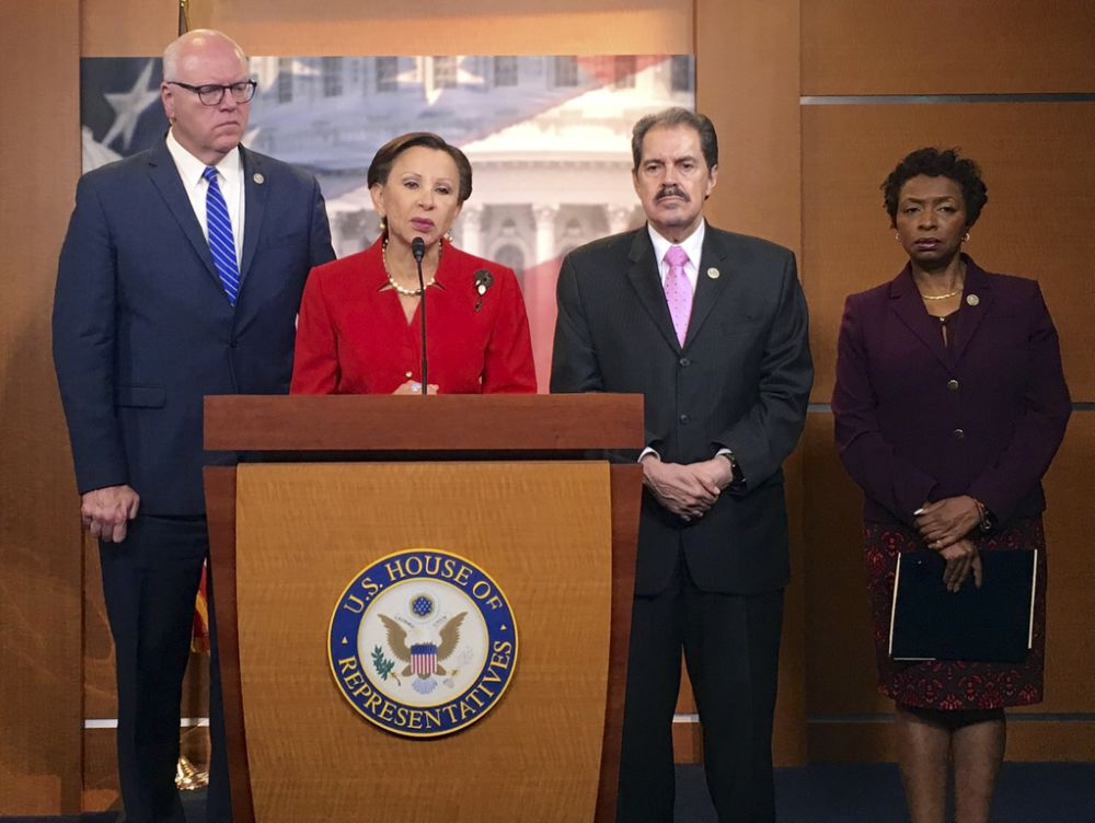 From left, New York Reps. Joe Crowley, Nydia Velazquez, Jose Serrano and Yvette Clarke