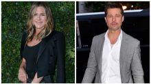 Brad Pitt spotted at Jennifer Aniston's 50th birthday bash