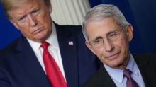 Trump: 'I disagree' with Fauci on COVID-19 in the US